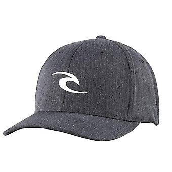 Rip Curl Men's Flexfit Cap ~ Tepan Weld black white