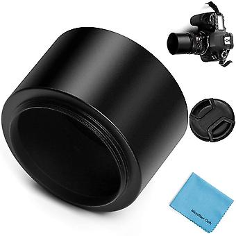 Fotover 58mm tele metal screw-in lens hood with centre pinch lens cap for canon nikon sony pentax ol