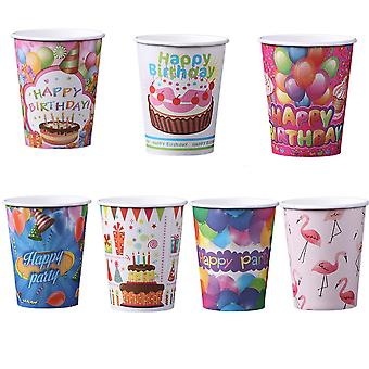 60pcs Disposable Paper Cups For Hot And Cool Drinks