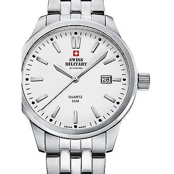 Reloj masculino militar suizo por Chrono SMP36009.02, cuarzo, 41 mm, 5ATM