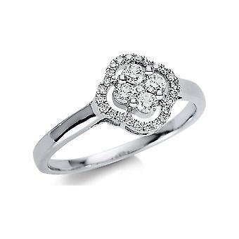Luna Creation Promessa Ring Multiple Stone Trim 1U499W854-3 - Ring Width: 54