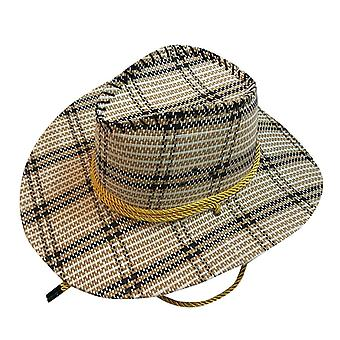 Handwork Summer Women Men Western Straw Cowboy Hat For Gentleman Wide Brim
