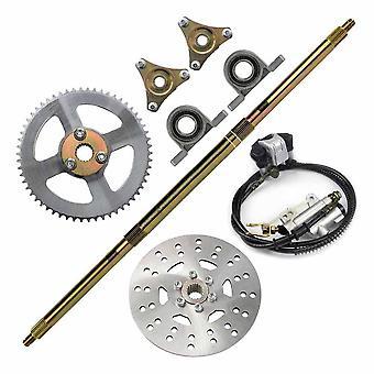 740mm Rear Axle Assembly Wheel Brake Kit Master Hub/disc Rotor T8f Chain