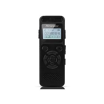 Newsmy RV29 8GB 1536KBPS PCM Dual Mikrofon 138 Stunden A bis B Repeat Voice Recorder