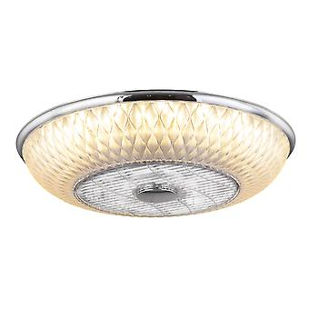 "Ceiling fan Rosario Chrome 55cm / 22"" with LED light"