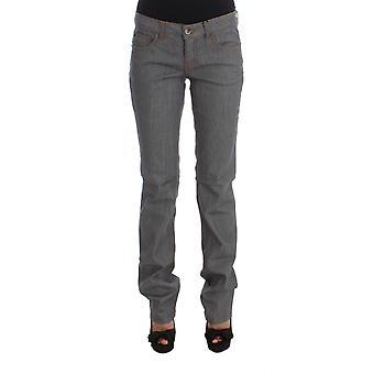 Costume National Gray Cotton Regular Fit Denim Jeans