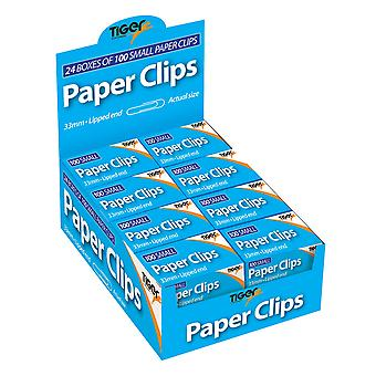 Tiger Stationery Paper Clips (Pack of 2400)
