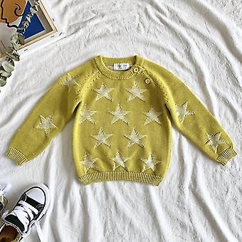 秋冬 新しい赤ちゃんキッズ ロングスリーブ ニット スター セーター
