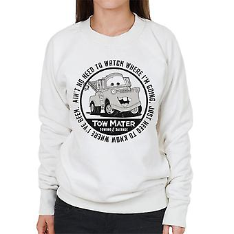 ピクサーカーズ牽引マーター牽引サルベージ女性&アポス;sスウェットシャツ