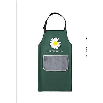 Small Daisy Apron Waterproof Pvc Apron Removable Washable And Hand Wipe