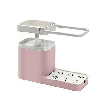 1pc Distributore di sapone da cucina Lavaggio dei piatti Pressa liquida uscita Scatola asciugamano Appendino