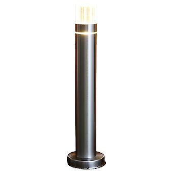 Biard Silver LED Post Bollard Light Outdoor Garden Pathway IP44 Weatherproof