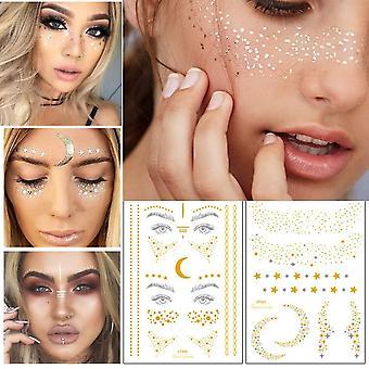 Face Flash Tattoo Festival Party Body Glitter Face Art Tattoo Sticker Eye Decals Eye Shadow Freckles Concealer Dot Pattern