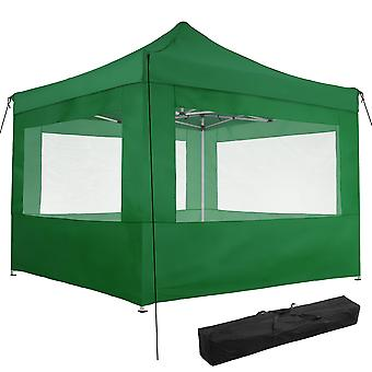tectake Easy up paviljong Olivia 3x3 m med 4 sidestykker