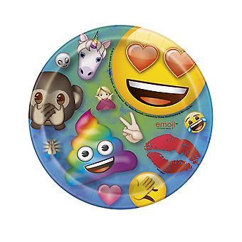8 Petites assiettes en carton Emoji Rainbow 18 cm