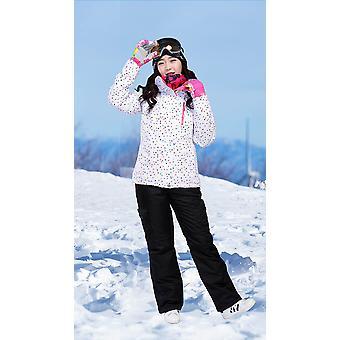 Ski Suit Kobiety Winter Thicken Ski Wear Wodoodporny pasek do jazdy snowboardjnej Mountian