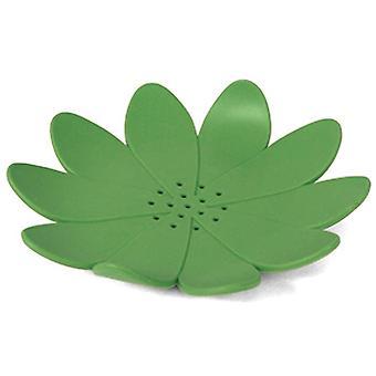 زهرة حامل الصابون 12 × 2 سم المطاط الأخضر