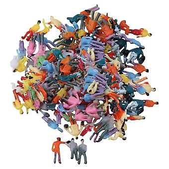 200Piece Mix Scale Figure 1:200 Train Scale Z Painted Colorful People Passenger