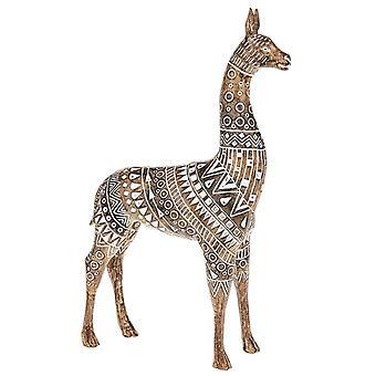 Ornamento de madera de llama azteca
