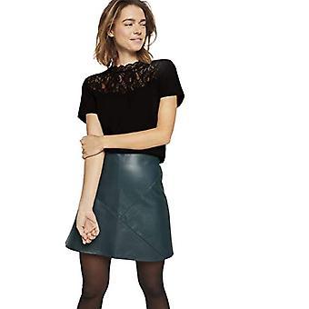 TOM SKRÄDDARE Denim Materialmix T-Shirt, 14482-Deep Black, XL Kvinnor