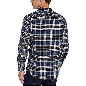 Essentials Men's Slim-Fit Long-Sleeve Plaid Flannel Shirt