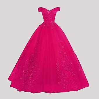 Πολυτελές δαντελένιο φόρεμα πάρτι από τον ώμο (σετ 3)