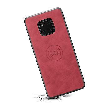 Portefeuille étui en cuir fente pour carte pour iphone xr rétro rouge pc4304