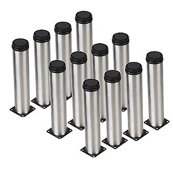 12Pcs Adjustable Plinth Legs for Furniture Replacement Legs 50x250mm