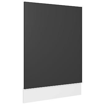 vidaXL Vaatwasser hoes Grijs 45x3x67 cm Spaanplaat