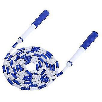 כחול רך חרוזים דילוג חבל עם קטע מתכוונן דילוג על חבל x7699