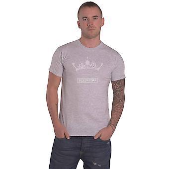 BlackPink T-paita Albumin kruunu logo uusi virallinen Mens Grey