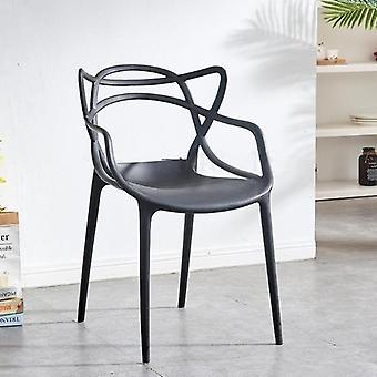 Cat Ear Modern Simple Leisure Hollow Back Coffee Chair