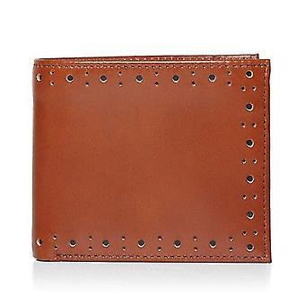 Fred Perry poinçonné Brogue Billfold Portefeuille en cuir pour hommes -- L7328-448