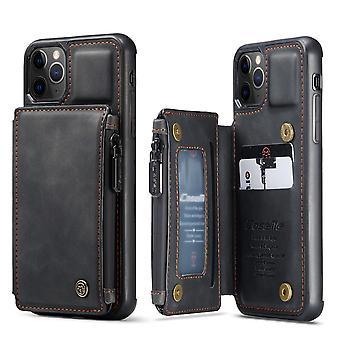 غطاء جلد بو لسامسونج s10 بالإضافة إلى حالة shockproof مع بطاقة فتحة kds الأسود-4299