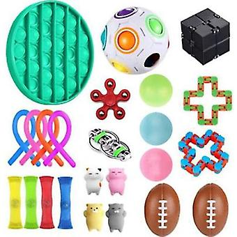 Stress Relief Toy 24pcs With Sticky Ball, Sensory Toys