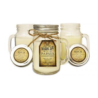 Mason Fragranced Candles Wax Filled Jar - Papaya Smoothie