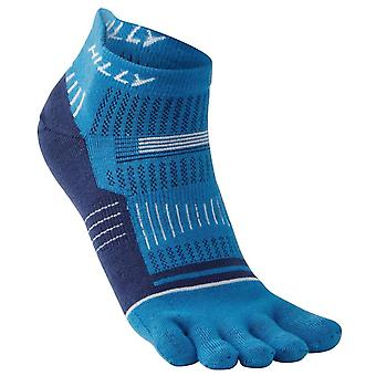 Hilly Toe Socks - Electric Blue/White