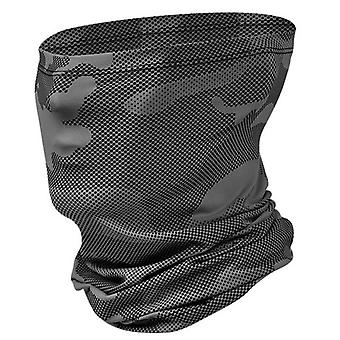 (Camouflage Gray) Cycling Biker Half Face Mask Cover Neck Tube Snood Balaclava Bandana Scarf Camo