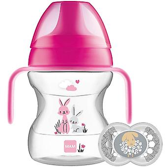 Learn to Drink Cup and Soother, 6 Months, 190 ml, Pink