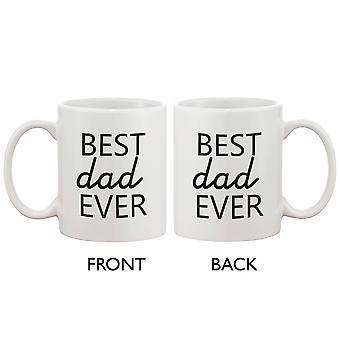 Sjove erklæring keramisk kaffekop for far - bedste far nogensinde. Bedste fars dag gave til far 11 ounce Krus