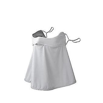 Outdoor Sonnencreme Gesichtsmaske Frauen UV-Schutz Hals und Hals Dünner Golf Eis Seidenschleier (Grau)