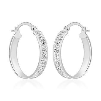 Creolen für Frauen Shinny gestempelt Silber