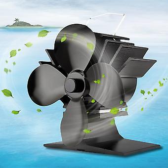 4 terää lämpökäyttöinen liesi tuuletin Energiaa säästävä alumiiniliesi tuuletin kotiin