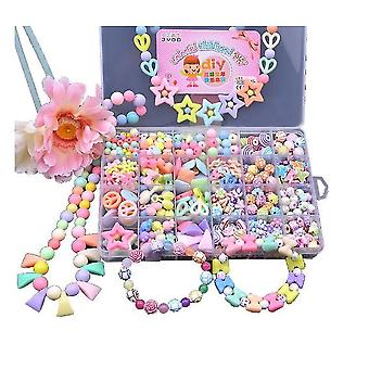 450 Pieces Diy Beads Set Jewelry Accessories Alphabet Letter Bead Kit With 24 Different Shapes Colorfu