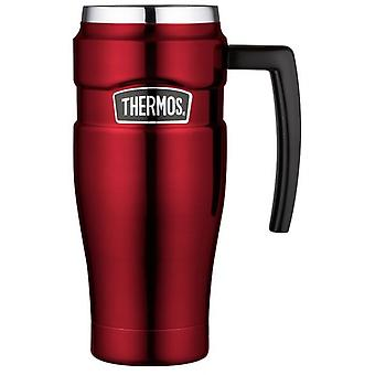 Thermos King Hot and Cold Stainless Steel Travel Mug 470ml Red