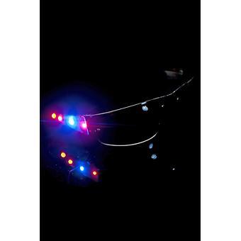 Leuchtende Sonnenbrille Schwarz Blinkende LEDs an beiden Seiten