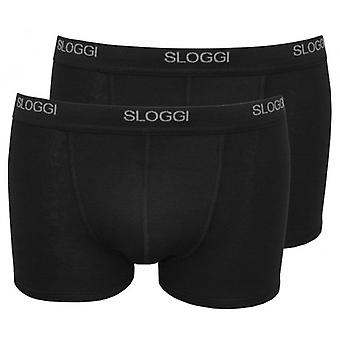 Sloggi 2-Pack Basic korte Boxer Trunks, zwart