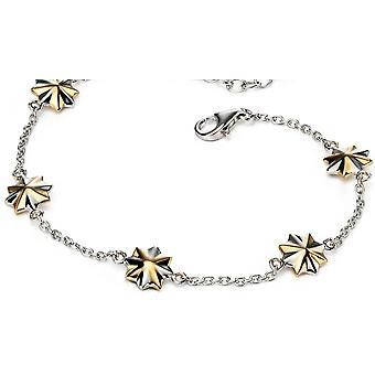 925 zilveren goud vergulde sterren armband