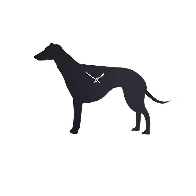 The Labrador Company Waggy Tail Clock - Greyhound