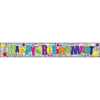 Simon Elvin Happy Retirement Foil Party Banner